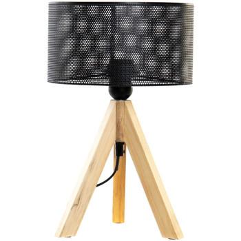 Maison & Déco Lampes à poser Retro Lampe  en métal et bois 35 cm Beige