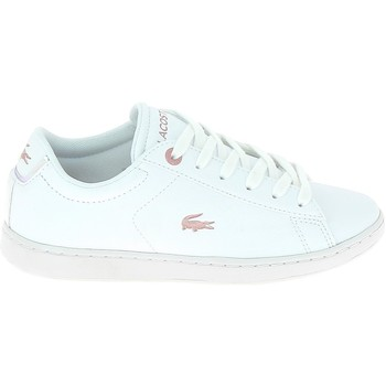 Chaussures Enfant Baskets basses Lacoste Carnaby C Blanc Rose Blanc