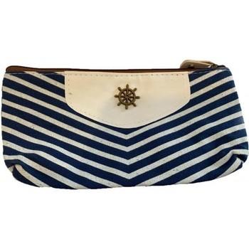 Sacs Femme Pochettes / Sacoches Cosmé'chic Fond Blanc + Rayure Bleue Autres
