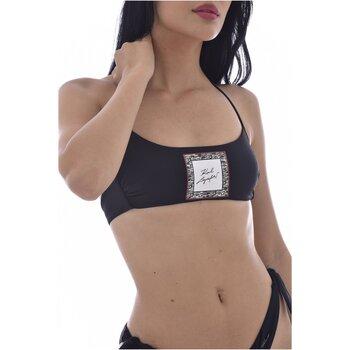 Vêtements Femme Maillots de bain séparables Karl Lagerfeld KL21WTP12 LIBRARY Bandeau Noir