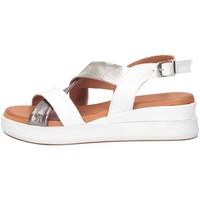 Chaussures Femme Sandales et Nu-pieds Hersuade 1700 Sandales Femme BLANC / ARGENT BLANC / ARGENT