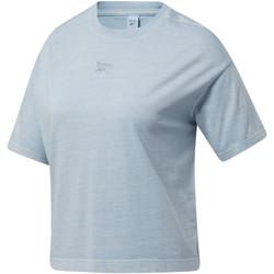 Vêtements Homme T-shirts manches courtes Reebok Sport Tee-shirt crop Bleu