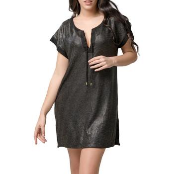 Vêtements Femme Robes courtes Luna Robe courte de plage Star  Splendida Noir