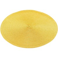 Maison & Déco Set de table 1001Kdo Pour La Maison Set de table rond 35 cm polypropylene zebulon jaune