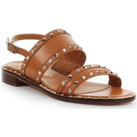 Chaussures Femme Sandales et Nu-pieds Via Roma 15 Sandale Plate Avec Clous Brown