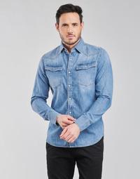 Vêtements Homme Chemises manches longues G-Star Raw 3301 SLIM SHIRT LS Bleu