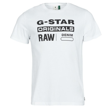 Vêtements Homme T-shirts manches courtes G-Star Raw GRAPHIC 8 R T SS Blanc