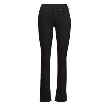 Vêtements Femme Jeans droit G-Star Raw NOXER STRAIGHT Noir