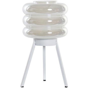 Maison & Déco Lampes à poser Retro Lampe en verre irisé transportable LED 32 cm Blanc