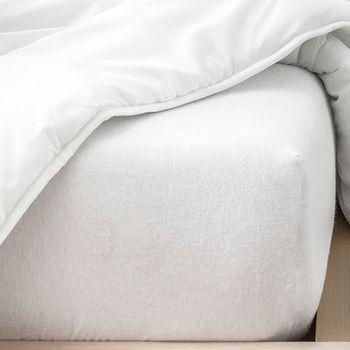 Maison & Déco Draps housse Gadget Et Bazar Alèse plastifiée pour lit une place dessus éponge 90 x 190 cm Blanc
