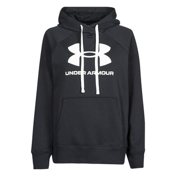Vêtements Femme Sweats Under Armour RIVAL FLEECE LOGO HOODIE Noir / Blanc