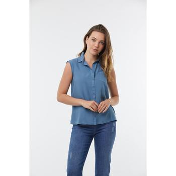 Vêtements Femme Chemises / Chemisiers Lee Cooper Chemise DAY Grenat Grey Blue