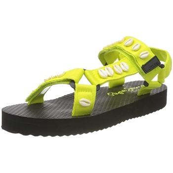 Chaussures Femme Sandales et Nu-pieds Pepe jeans Sandales plates  Pool Sea ref 52997 Lima Jaune