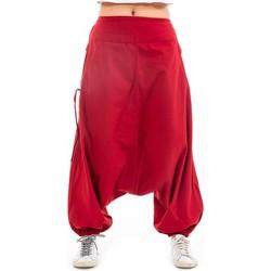 Vêtements Femme Pantalons fluides / Sarouels Fantazia Sarouel femme ethnique modulable Loubna Rouge foncé
