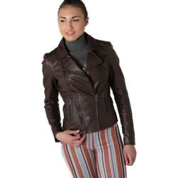 Vêtements Femme Vestes en cuir / synthétiques Rose Garden TEMPA LAMB RUBY BROWN Marron