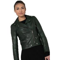 Vêtements Femme Vestes en cuir / synthétiques Rose Garden PANEMA LAMB CASTEL DARK GREEN ZZ10 Vert