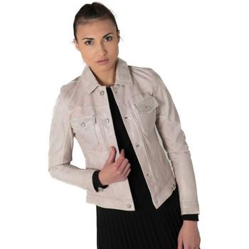 Vêtements Femme Vestes en cuir / synthétiques Rose Garden OLGA LAMN ANAINA DELICATE VIOLET ZZ10 Rose