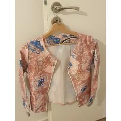 Vêtements Femme Vestes / Blazers House of Harlow 1960 Veste imprimé cachemire rose Multicolore
