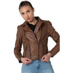 Vêtements Femme Vestes en cuir / synthétiques Rose Garden TEMPA LAMB RUBY RUSTY Marron