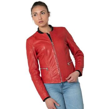 Vêtements Femme Vestes en cuir / synthétiques Gipsy GIANA NSLONTV RED Rouge
