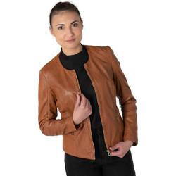 Vêtements Femme Vestes en cuir / synthétiques Gipsy GIANA NSLONTV LIGHT COGNAC Cognac