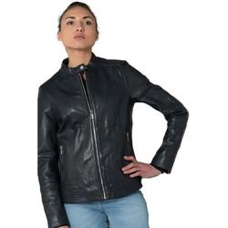 Vêtements Femme Vestes en cuir / synthétiques Daytona CALVI CURVE SHEEP MANILA NAVY Bleu marine