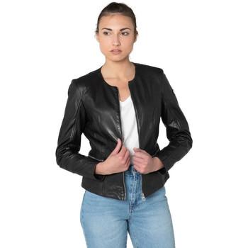 Vêtements Femme Vestes en cuir / synthétiques Gipsy GGGIANA NSLONTV BLACK Noir