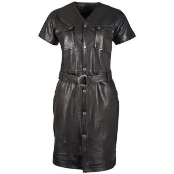 Vêtements Femme Robes courtes Gipsy GGIMBA NSLONTV BLACK Noir
