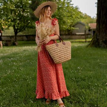 Vêtements Femme Robes longues Céleste AURORE version courte Rouge