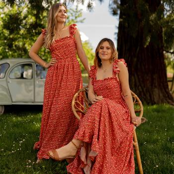Vêtements Femme Robes longues Céleste AURORE Rouge
