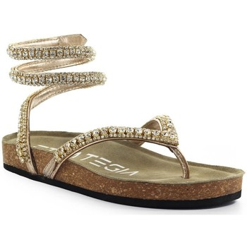 Chaussures Femme Tongs Strategia Sandale Tong Gold