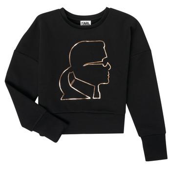 Vêtements Fille Sweats Karl Lagerfeld CORNALINE Noir