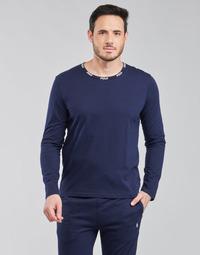 Vêtements Homme T-shirts manches longues Polo Ralph Lauren CREEW SLEEP TOP Marine