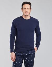 Vêtements Homme T-shirts manches longues Polo Ralph Lauren LS CREW SLEEP TOP Marine
