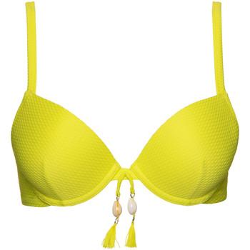 Vêtements Femme Maillots de bain séparables Lisca Haut maillot de bain push-up Ibiza Jaune