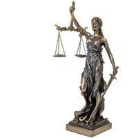 Maison & Déco Statuettes et figurines Retro Statue en polyrésine Justitia Thémis de couleur bronze Jaune