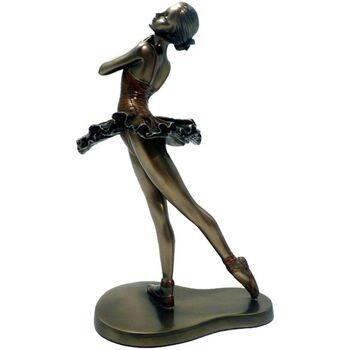 Maison & Déco Statuettes et figurines Danseuse - Ballerine Statuette Danseuse de collection aspect bronze 24 cm Doré