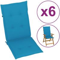 Maison & Déco Coussins Vidaxl Coussin de chaise de jardin 120 x 50 x 4 cm Bleu