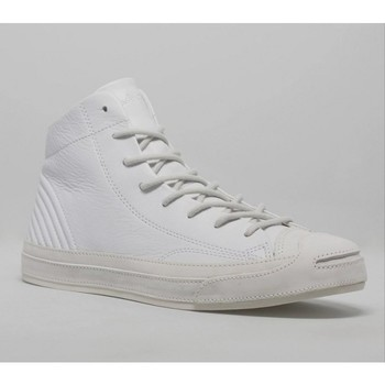 Chaussures Homme Baskets montantes Converse JACK PURCELL MID QUILT MOTO Blanc