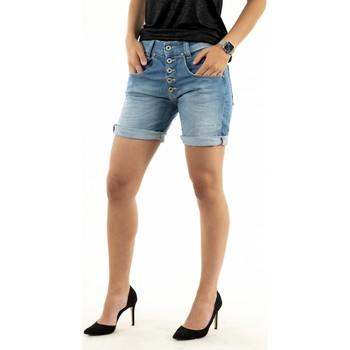 Vêtements Femme Shorts / Bermudas Please p88a bq2e13 1670 blu denim bleu