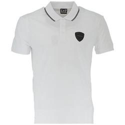 Vêtements Homme Polos manches courtes Ea7 Emporio Armani Polo EA7 Emporio Blanc