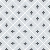 Maison & Déco Stickers Retro 6 stickers à carreaux de ciment 15 x 15 cm Gris
