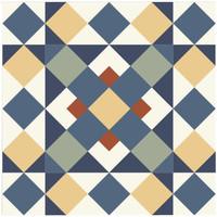 Maison & Déco Stickers Retro 6 stickers à carreaux de ciment 15 x 15 cm Bleu