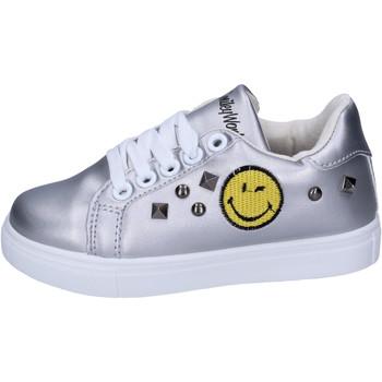 Chaussures Fille Baskets basses Smiley BJ987 Argenté