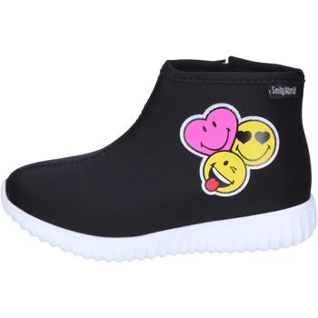 Chaussures Fille Bottines Smiley BJ989 Noir