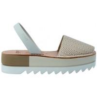 Chaussures Femme Sandales et Nu-pieds Ria Sandalias Menorquinas Abarcas Mujer de  Kim 27350-2-S2 Gris