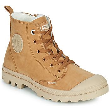 Chaussures Femme Boots Palladium PAMPA HI ZIP WL W Marron