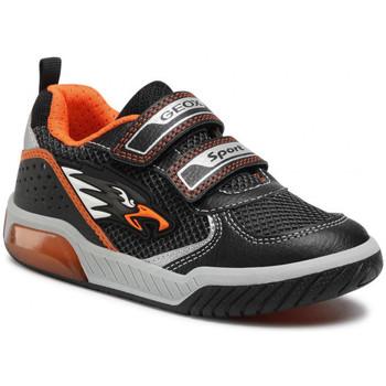 Chaussures Garçon Baskets basses Geox Inek Boy Noir