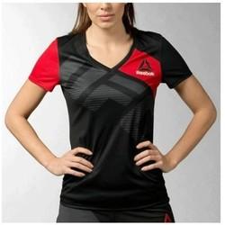 Vêtements Femme T-shirts manches courtes Reebok Sport - Tee-shirt - noir Noir