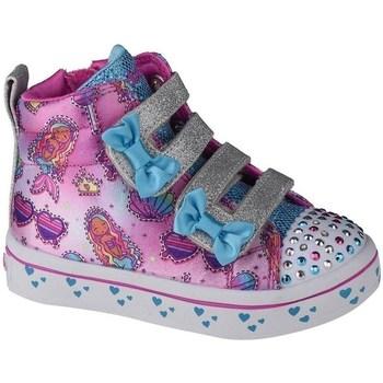 Chaussures Enfant Baskets montantes Skechers Twilites Mermaid Gems Rose